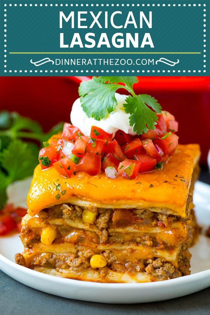 Mexican Lasagna Recipe | Mexican Casserole #mexican #lasagna #groundbeef #beans #dinner #cheese #dinneratthezoo