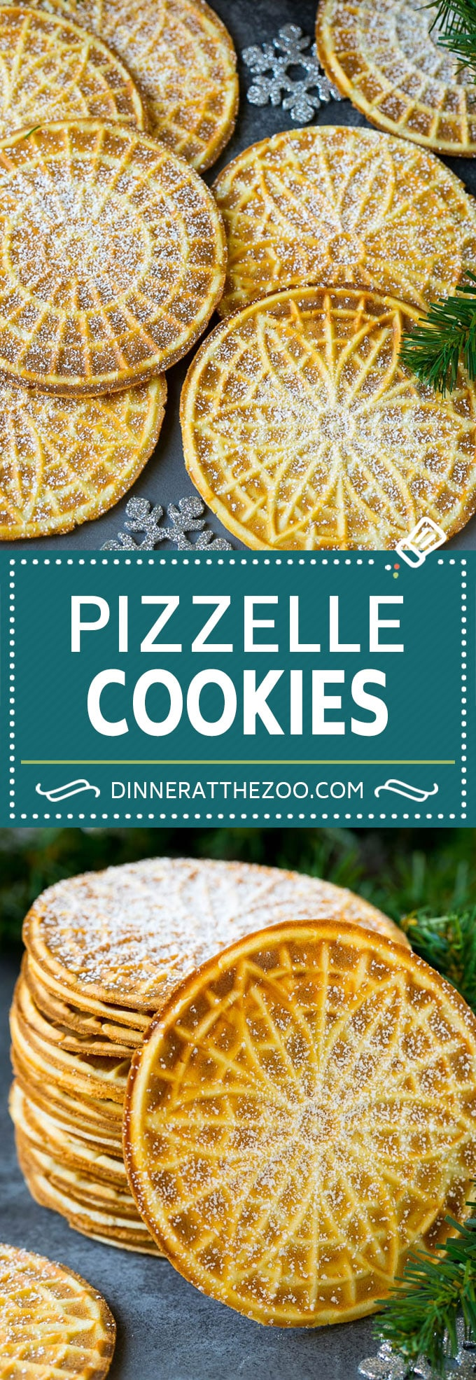 Pizzelle Cookies Recipe #cookies #baking #dessert #christmas #dinneratthezoo