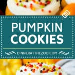 Pumpkin Cookies Recipe | Pumpkin Spice Cookies #cookies #baking #pumpkin #fall #frosting #thanksgiving #dinneratthezoo