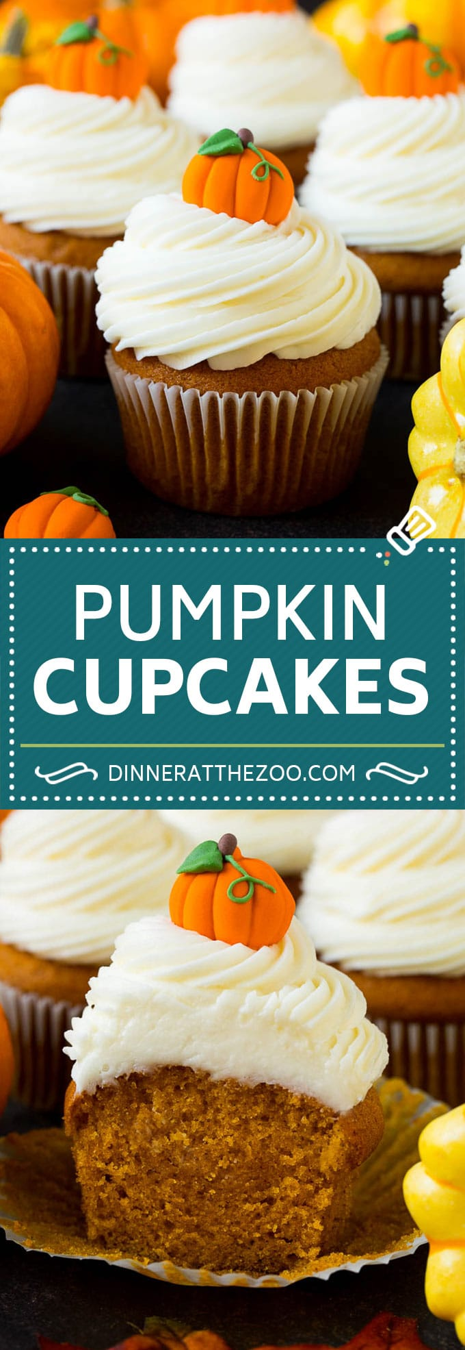 Pumpkin Cupcakes Recipe | Pumpkin Cake #cake #cupcakes #pumpkin #frosting #baking #fall #thanksgiving #dinneratthezoo