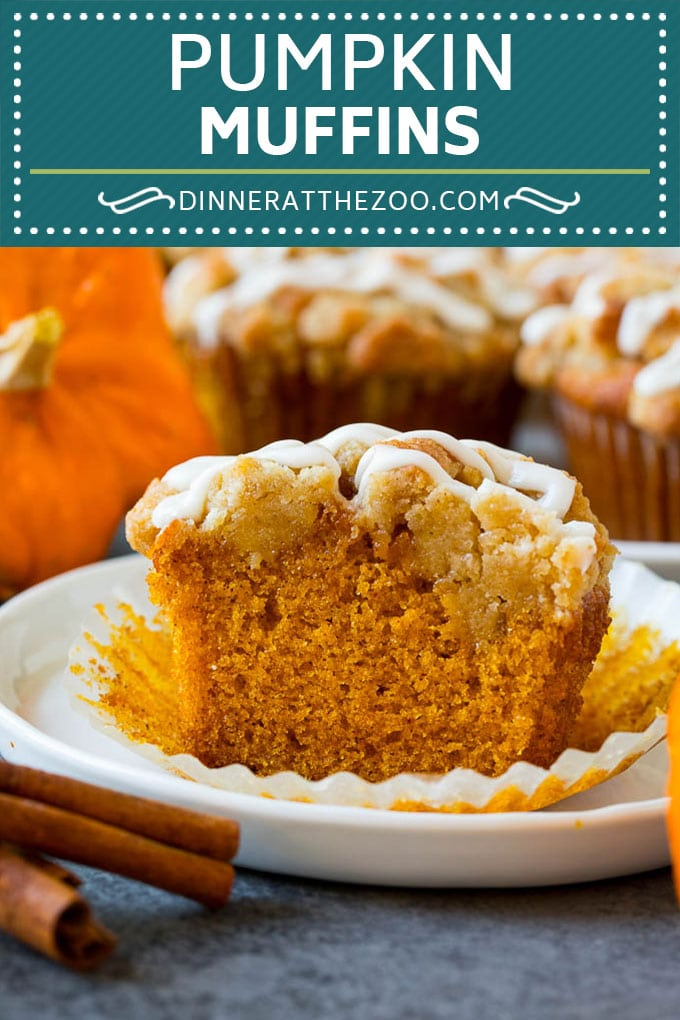 These pumpkin muffins are light and tender treats filled with plenty of pumpkin puree and spice, then topped with brown sugar streusel and baked to perfection. The ultimate fall breakfast or snack option.