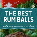 Rum Balls Recipe #chocolate #pecans #dessert #rum #christmas #dinneratthezoo #candy