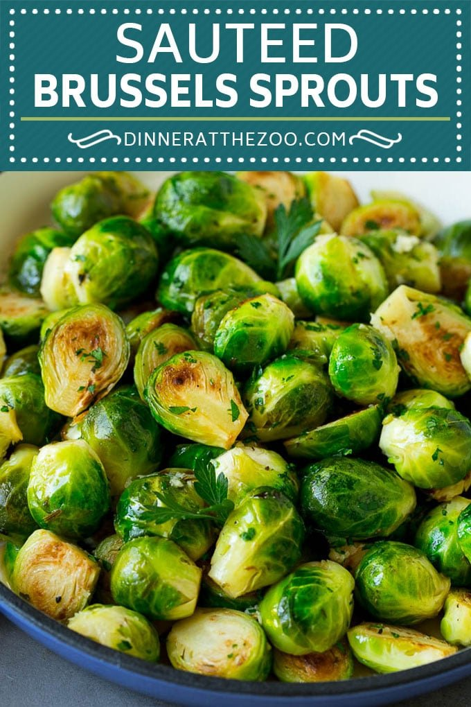 Sauteed Brussels Sprouts Recipe | Brussels Sprouts Side Dish #brusselssprouts #sprouts #veggies #sidedish #garlic #vegetarian #dinner #dinneratthezoo
