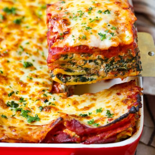 Spinach Lasagna Dinner At The Zoo