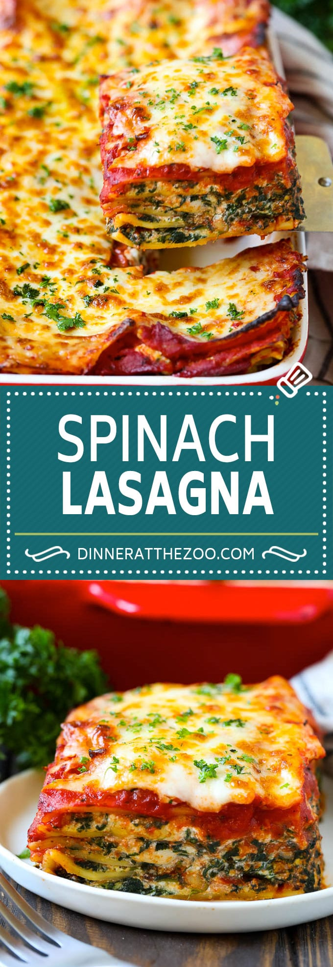 Spinach Lasagna Recipe | Vegetarian Lasagna #lasagna #spinach #cheese #pasta #italianfood #dinner #dinneratthezoo
