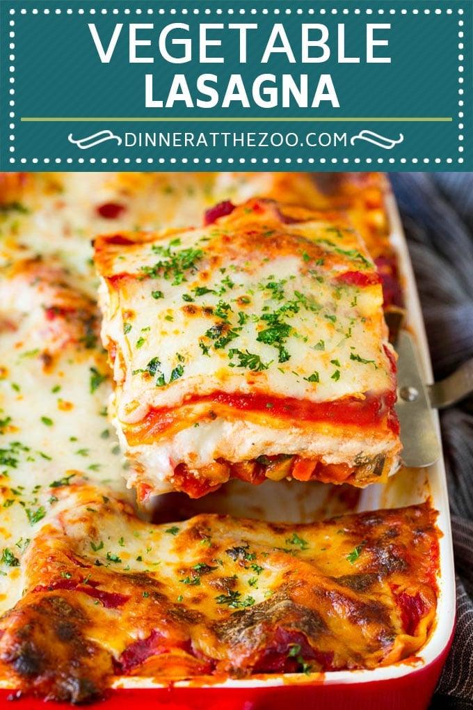 Vegetable Lasagna Recipe | Vegetarian Lasagna #lasagna #vegetarian #veggies #cheese #pasta #dinner #dinneratthezoo