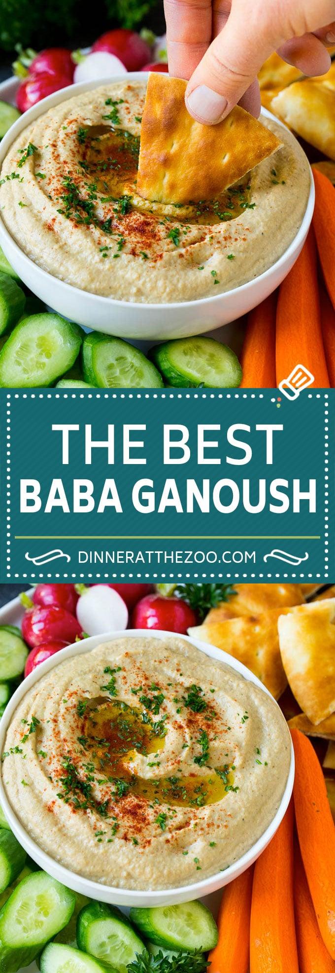 Baba Ganoush Recipe | Eggplant Dip #eggplant #appetizer #dip #healthy #glutenfree #lowcarb #dinneratthezoo