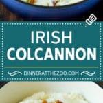 Colcannon Recipe   Mashed Potatoes #potatoes #cabbage #bacon #sidedish #stpatricksday #dinner #dinneratthezoo
