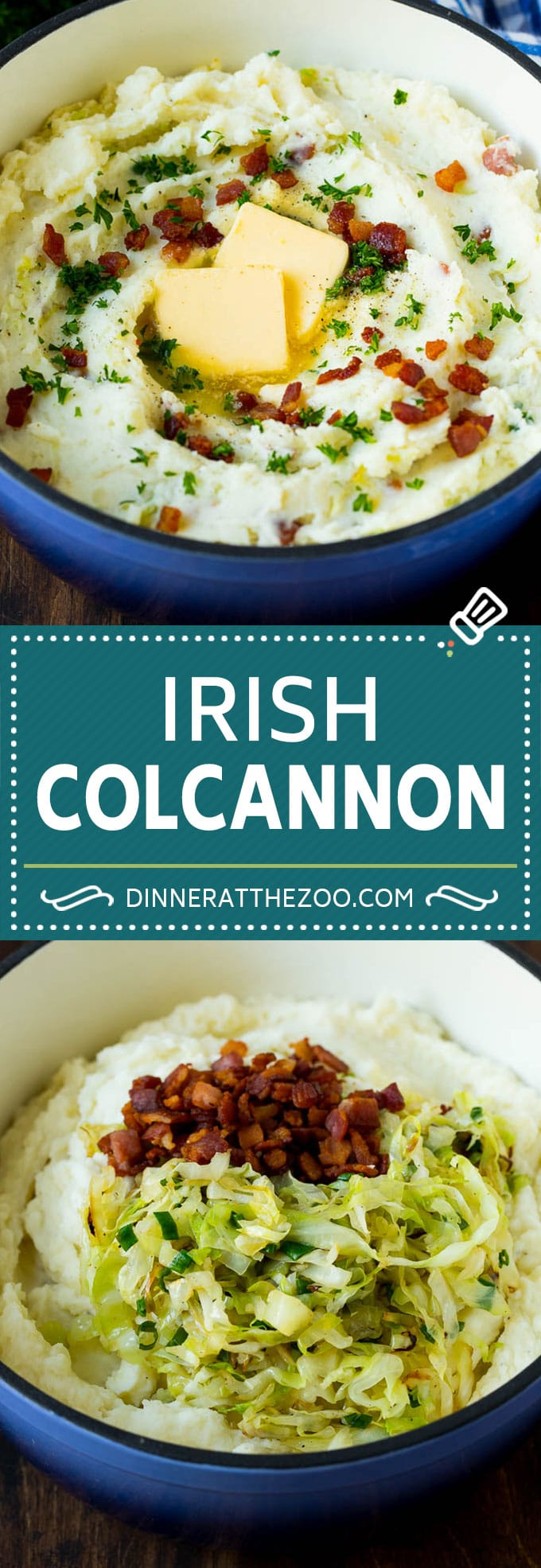 Colcannon Recipe | Mashed Potatoes #potatoes #cabbage #bacon #sidedish #stpatricksday #dinner #dinneratthezoo