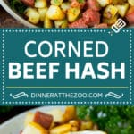Corned Beef Hash Recipe #hash #cornedbeef #stpatricksday #breakfast #brunch #potatoes #dinneratthezoo