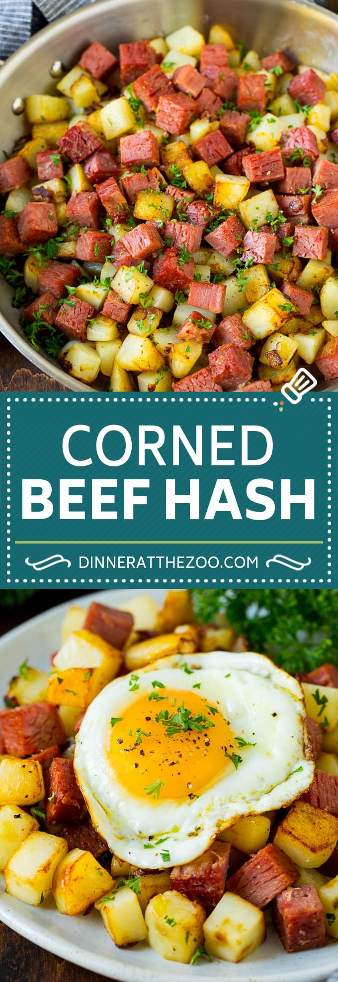 Corned Beef Hash Recipe #hash #cornedbeef #stpatricksday #breakfast #brunch #potatoes #dinneratthezoo