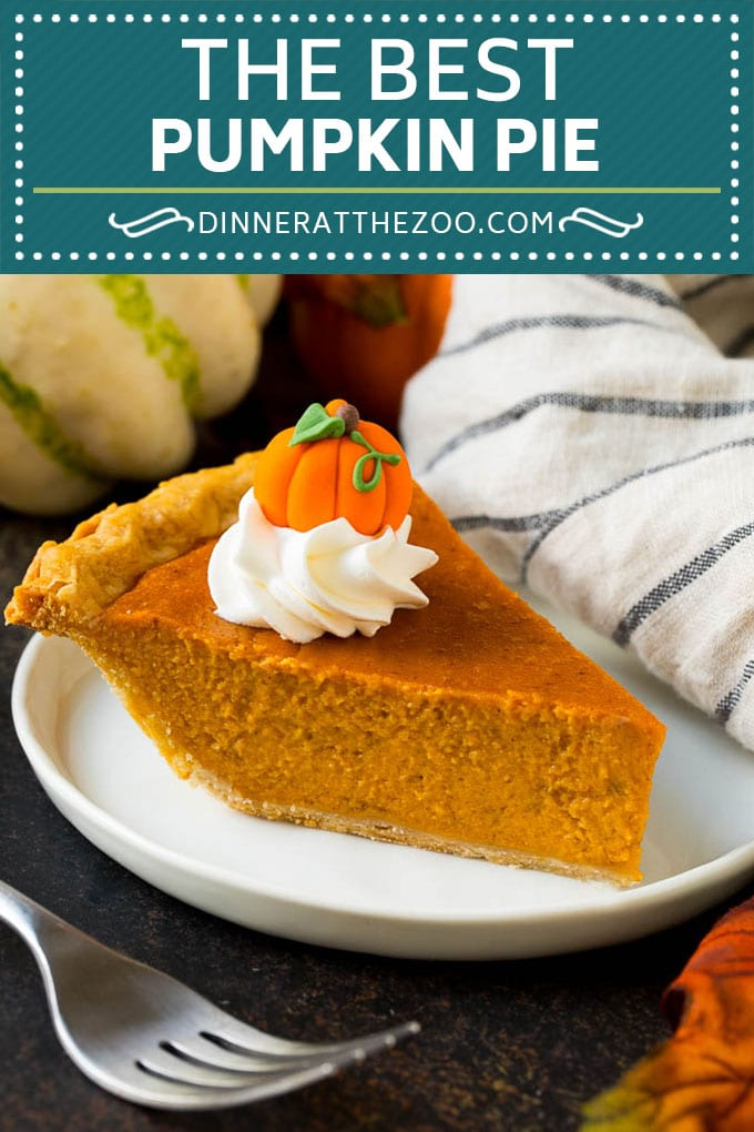 Homemade Pumpkin Pie Recipe | Pumpkin Pie #pie #pumpkin #baking #thanksgiving #fall #dessert #dinneratthezoo