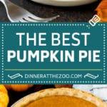 Homemade Pumpkin Pie Recipe | Pumpkin Pie #pie #pumpkin #baking #thanksgiving #fall #dessert #dinneratthezoo