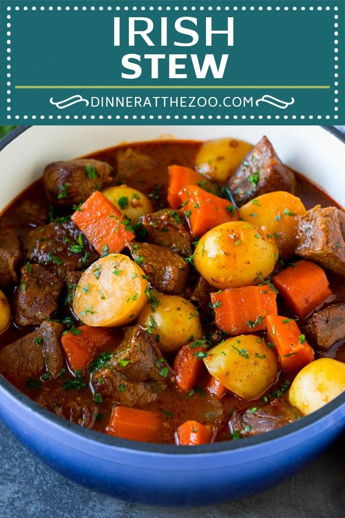 Irish Stew Recipe | Beef Stew #stew #soup #beef #carrots #potatoes #beer #stpatricksday #dinner #dinneratthezoo