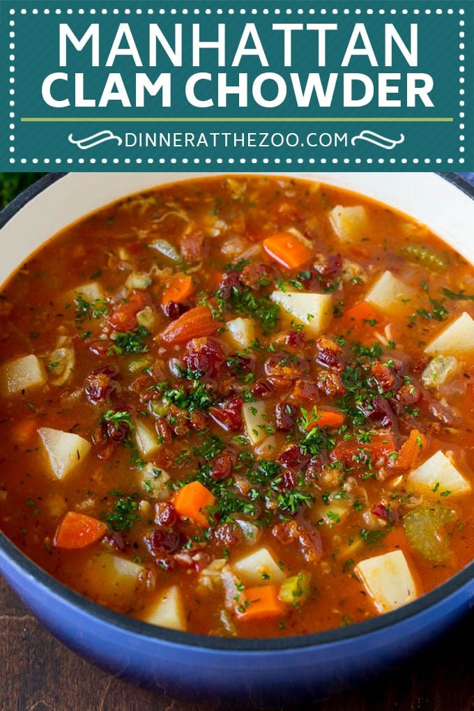 Manhattan Clam Chowder Recipe | Red Clam Chowder #chowder #soup #seafood #clams #bacon #dinner #dinneratthezoo