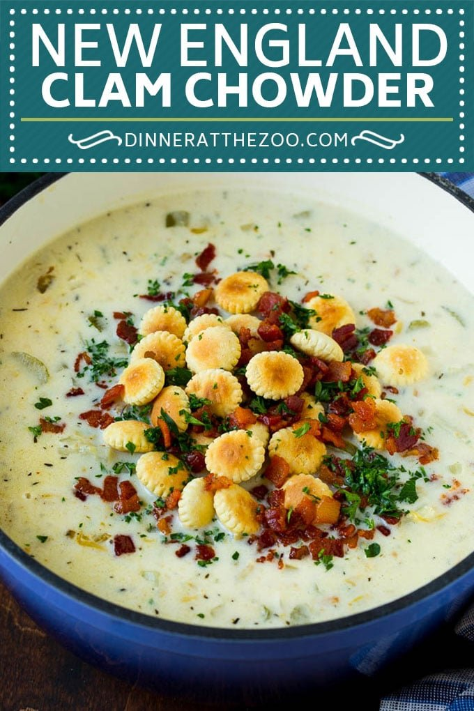New England Clam Chowder Recipe | White Clam Chowder #chowder #soup #seafood #clams #bacon #dinner #dinneratthezoo