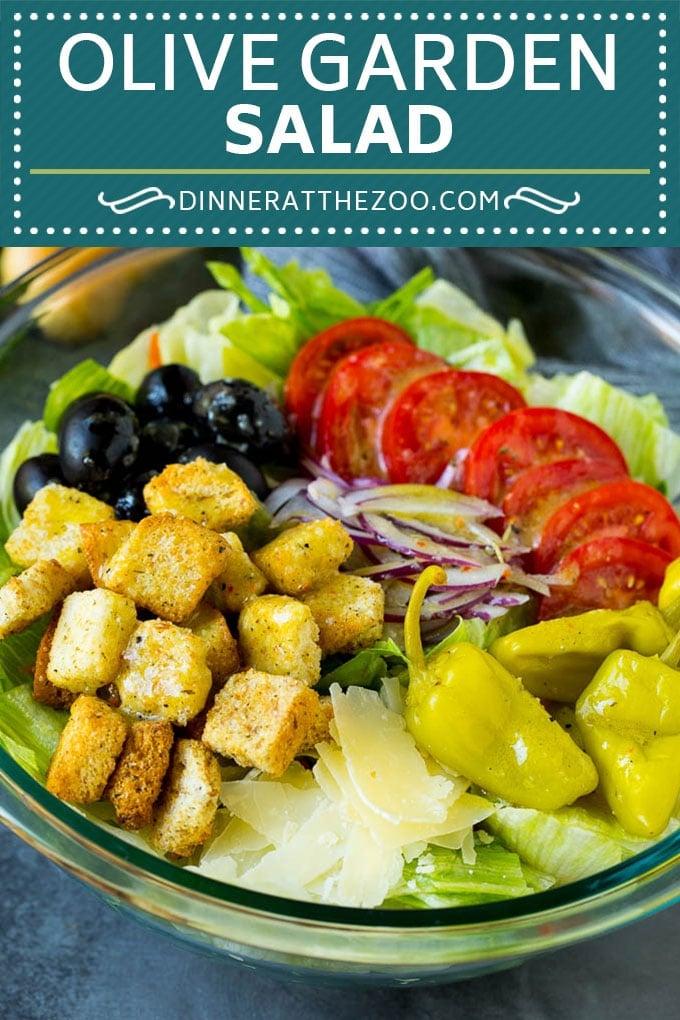 Olive Garden Salad Recipe | Italian Salad #salad #lettuce #olives #sidedish #dinner #dinneratthezoo