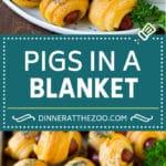 Pigs in a Blanket Recipe #hotdogs #appetizer #snack #comfortfood #dinneratthezoo