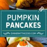 Pumpkin Pancakes Recipe #pancakes #breakfast #brunch #pumpkin #fall #dinneratthezoo