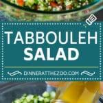 Tabbouleh Salad   Tabouli #salad #wheat #tomatoes #cucumber #healthy #sidedish #dinner #dinneratthezoo