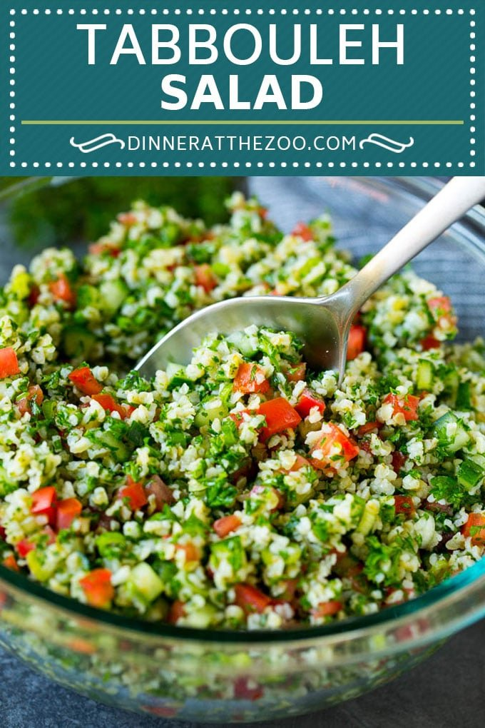 Tabbouleh Salad | Tabouli #salad #wheat #tomatoes #cucumber #healthy #sidedish #dinner #dinneratthezoo