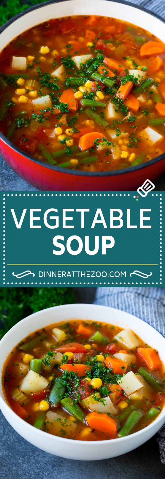 Vegetable Soup Recipe #soup #vegetable #vegetarian #vegan #dinner #healthy #dinneratthezoo #glutenfree