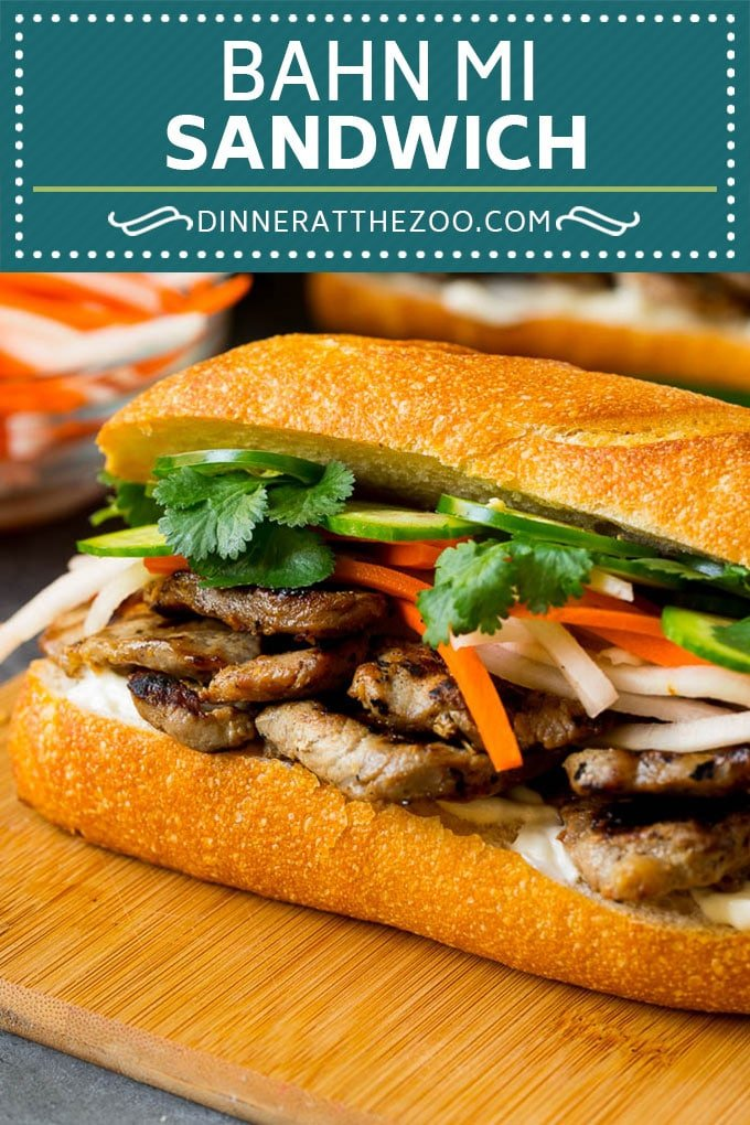 Bahn Mi Sandwich Recipe #sandwich #pork #lunch #dinner #dinneratthezoo