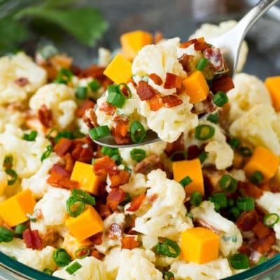 Cauliflower Salad with Bacon