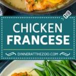 Chicken Francese Recipe #chicken #lemon #dinner #dinneratthezoo