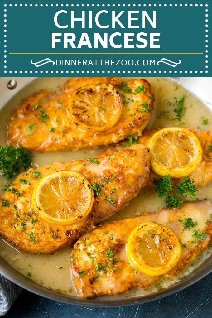 Chicken Francese Recipe #chicken #lemon #dinner #dinneratthezoo