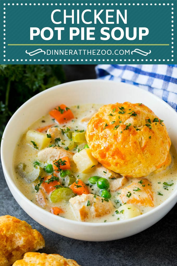 Chicken Pot Pie Soup Recipe | Chicken Soup #soup #chicken #dinner #comfortfood #dinneratthezoo