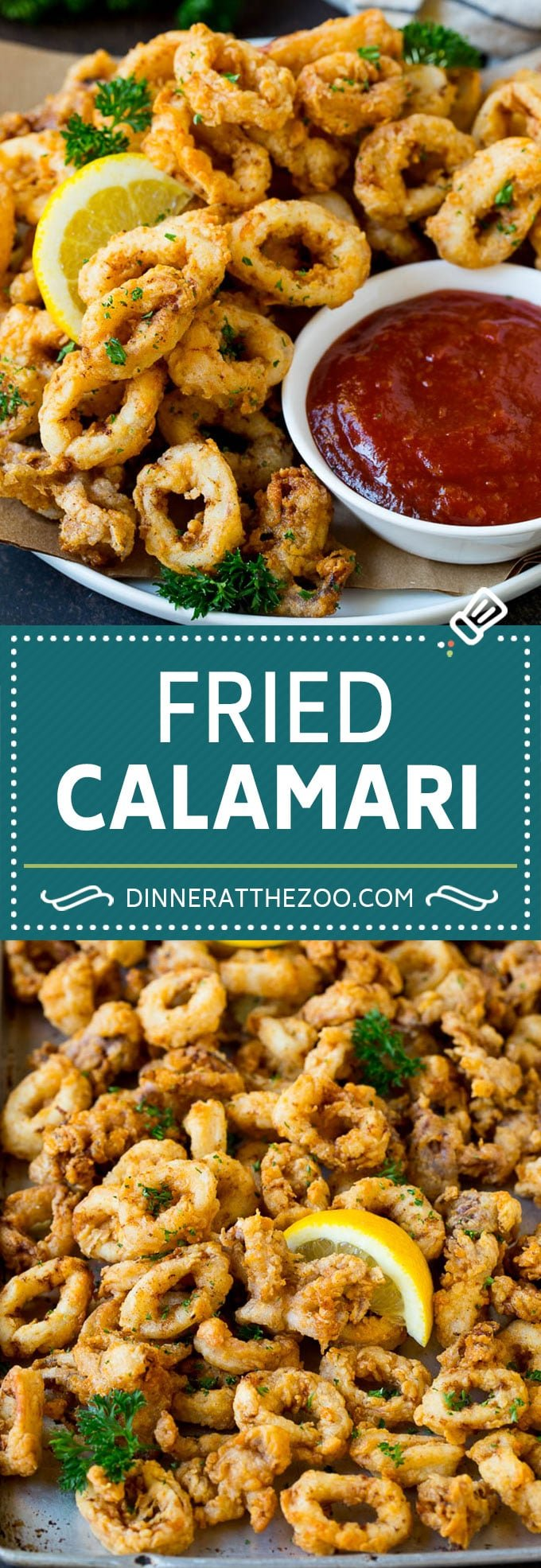 Fried Calamari Recipe #seafood #appetizer #dinner #dinneratthezoo