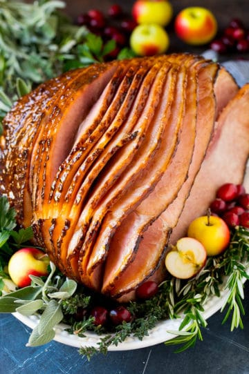 How to cook a ham with a brown sugar glaze.