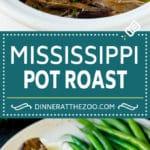 Mississippi Pot Roast #slowcooker #potroast #beef #crockpot #dinner #dinneratthezoo
