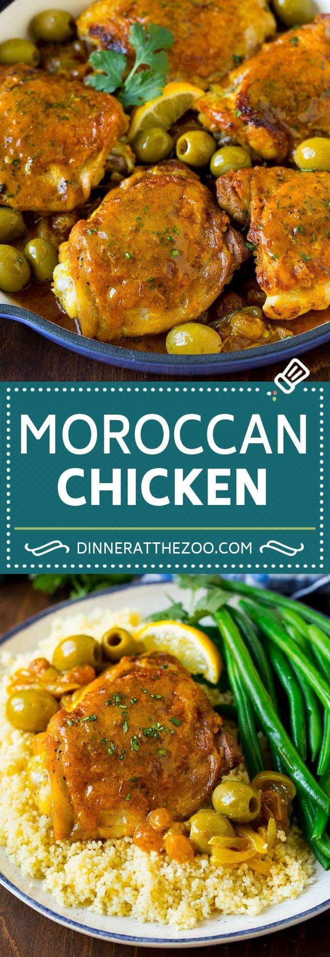 Moroccan Chicken Recipe #chicken #dinner #olives #dinneratthezoo