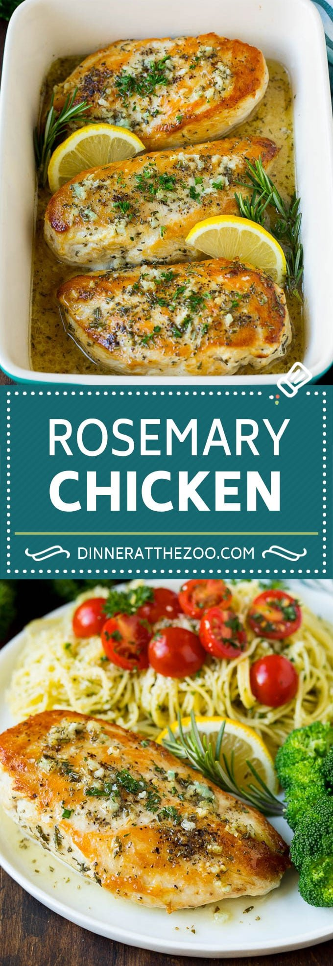 Rosemary Chicken Recipe | Baked Chicken #chicken #lemon #garlic #lowcarb #dinner #dinneratthezoo #rosemary