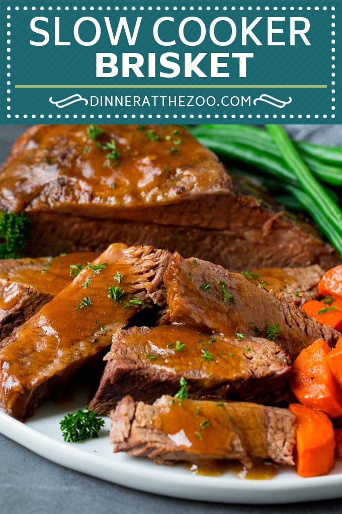 Slow Cooker Brisket Recipe | Crockpot Brisket #beef #slowcooker #crockpot #dinner #dinneratthezoo