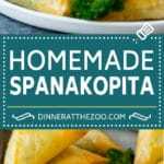 Spanakopita Recipe #appetizer #snack #spinach #cheese #dinneratthezoo