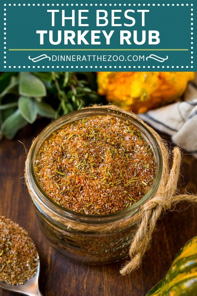 This turkey rub is a blend of savory spices that come together to make the ultimate poultry seasoning.