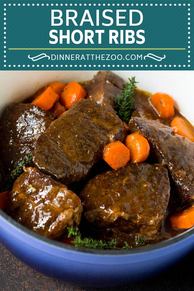 Braised Short Ribs Recipe #beef #dinner #dinneratthezoo
