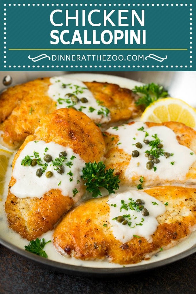 Chicken Scallopini Recipe #chicken #chickenbreast #dinner #dinneratthezoo