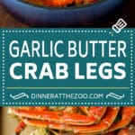 Crab Legs with Garlic Butter #crab #seafood #dinner #lowcarb #dinneratthezoo