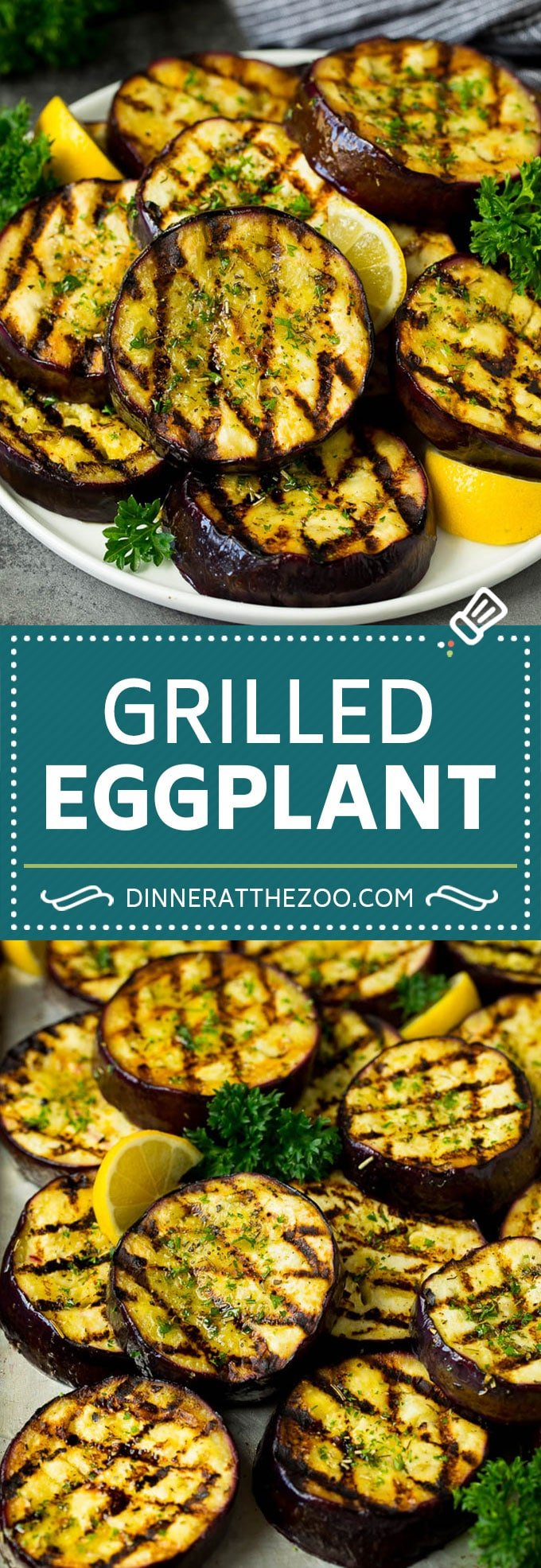 Grilled Eggplant Recipe #eggplant #grilling #dinner #dinneratthezoo