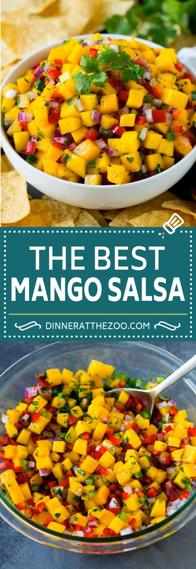 Mango Salsa Recipe #mango #salsa #healthy #appetizer #dinneratthezoo