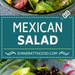 Mexican Salad Recipe #salad #corn #beans #avocado #tomatoes #dinneratthezoo