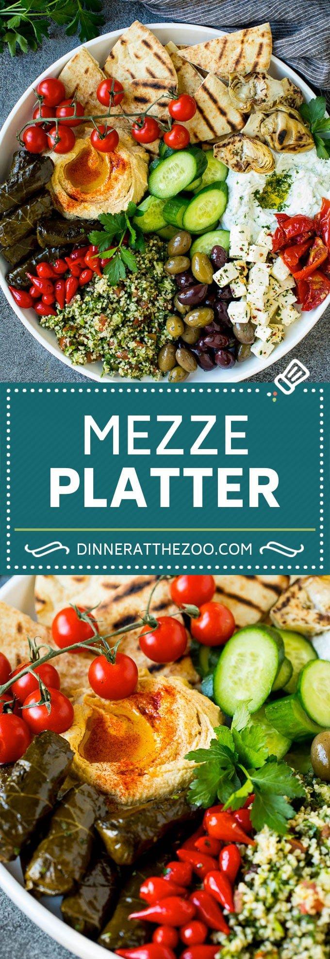 Mediterranean Mezze Platter Dinner At The Zoo