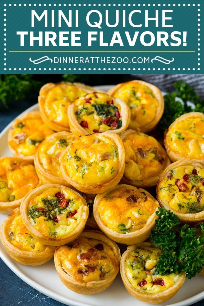 Mini Quiche Recipe #eggs #breakfast #brunch #appetizer #dinneratthezoo