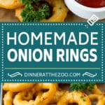 Onion Rings Recipe #onions #appetizer #dinneratthezoo