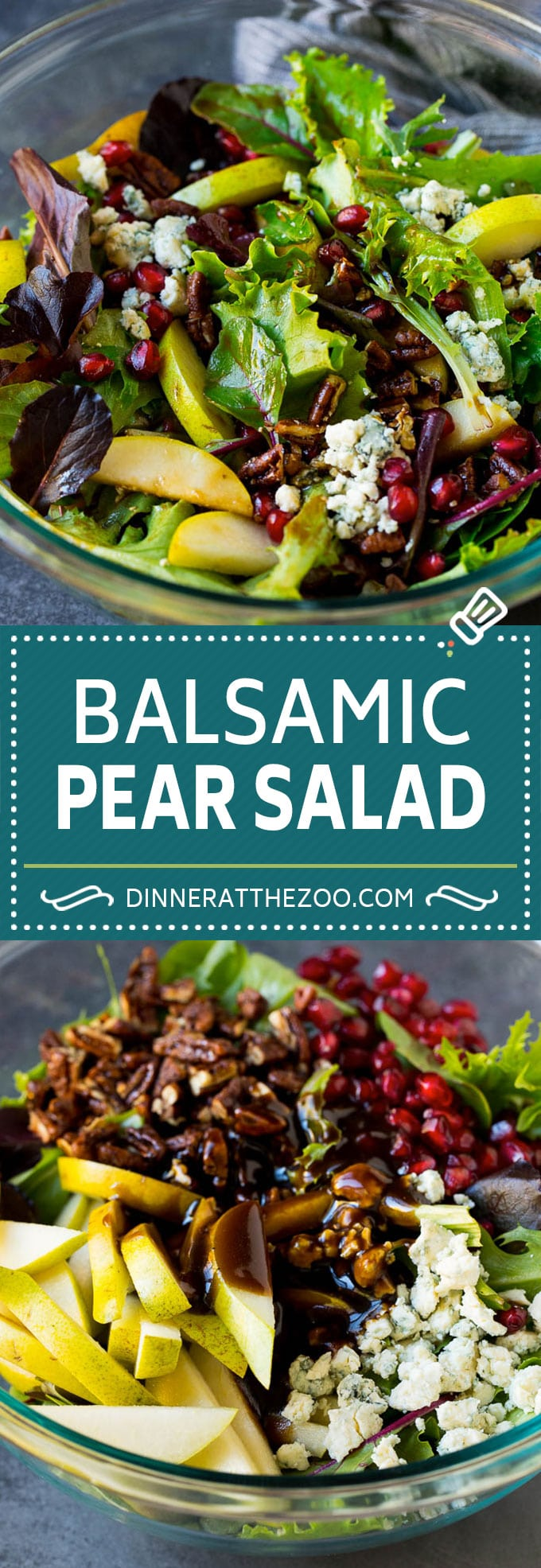 Pear Salad Recipe #salad #pears #fall #winter #dinner #dinneratthezoo