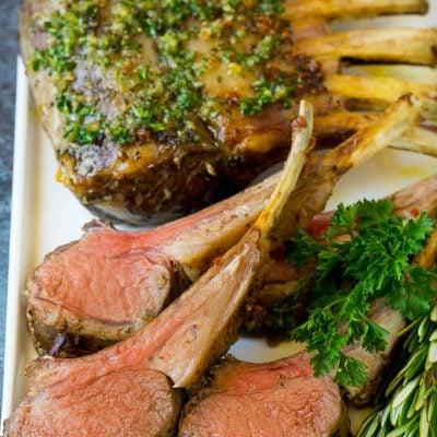 Rack of Lamb with Garlic and Rosemary